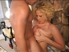 Knob gobbling girl fucked in her tight ass tubes