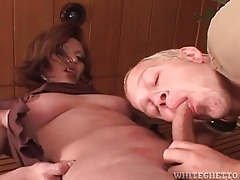 Sucking tits and cock of a cute shemale tubes
