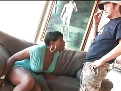 Black chick with a dick sucks on a hard cock tubes