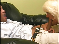 Cocksucking blonde mature boned by black dick tubes