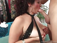 Hairy box girl in a skirt sits on his boner tubes