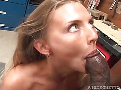 Big black cock blown and boning her from behind tubes