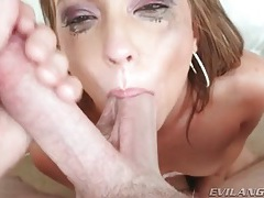 Her makeup runs as she takes cock deep tubes