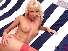 Jana cova playing with her wet pussy tubes