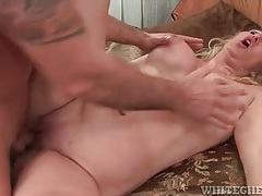 Milf fucked on her back and on top tubes