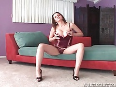 Big tits milf june summers teases in lingerie tubes