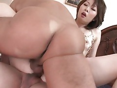 Skinny japanese slut fucked in double penetration tubes