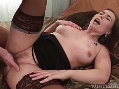 Lingerie on a sexy milf grinding on his cock tubes