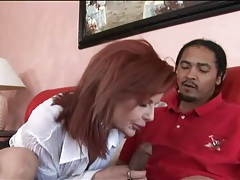 Milf redhead with fake tits fucked by black cock tubes