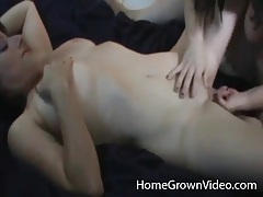Amateur lesbian with nice tits eaten out tubes