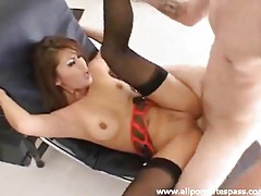 Classy lingerie girl fucked in her slutty pussy tubes