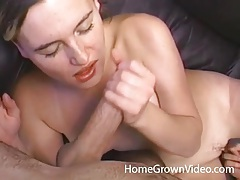 Blowing a big cock that fucks her young pussy tubes