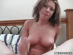 Titjob from a beauty with nice perky boobs tubes