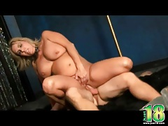 Chubby milf fucked on the strip stage tubes