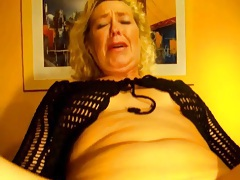 Shoving needle into milf pussy and squirting liquid tubes