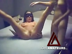 Strapon cock makes homemade lesbian sex better tubes