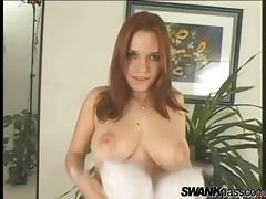 Gap toothed redhead strips to show big tits tubes