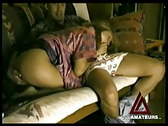 He gropes her ass while she sits on that dick tubes