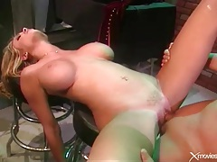 Beautiful briana banks fucked from behind in bar tubes