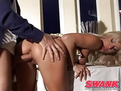 Nice fake tits on a hot blonde he balls in pussy tubes