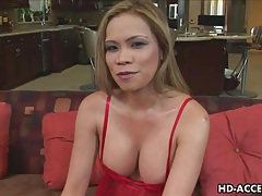 Sexy asian milf takes anal pounding tubes