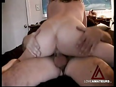 She sits her tight wet pussy on a dick and bounces tubes