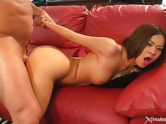 Lusty young asian fucked in her shaved pussy tubes