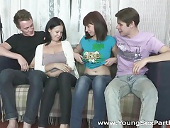Young sex parties - double sex after a double date tubes