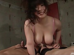 Big titties out as she gives handjobs to cocks tubes