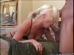Black cock fucks her face and makes her gag tubes
