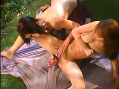 Cunt licking girls in a beautiful forest tubes