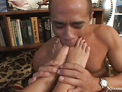 Foot fetish foreplay and hardcore sex scene tubes