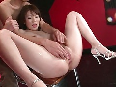 Fingering japanese girl until she cums hard tubes