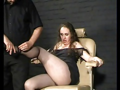 Stripping a fat girl naked in bdsm video tubes