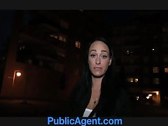 Publicagent dark haired stunner fucks for free phone tubes