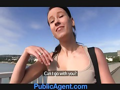Publicagent sexy fitness instructor fucking for money tubes
