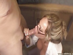 Milf secretary with glasses fucked tubes