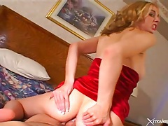 Pov suck and sex with a blonde gapes her ass tubes