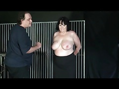 Undressing a fat chick and abusing her tits tubes