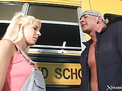 Bus driver loves to fuck that teenage pussy tubes