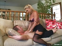 Milf double penetration in her sexy stockings tubes