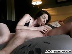 Hot amateur gf sucks and fucks with creampie cumshot tubes