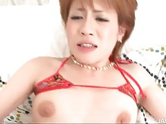 On her back and fucked hard in a threesome tubes