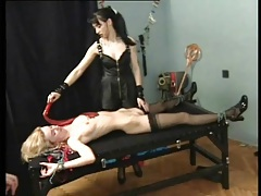 Bound slaves in the dungeon of sexy mistress tubes