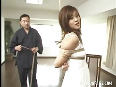 Increasing the rope bondage of the japanese chick tubes