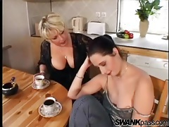Arousing tit sucking with a pair of lesbian hotties tubes