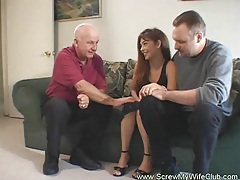 Husband approves of his wife fucking tube