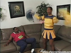 Dick sucked by a cute black cheerleader tubes