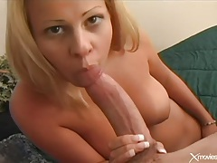 Perky tits blonde fucked in her shaved vagina tubes