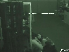 Cocksucker blows a guy in the warehouse tubes
